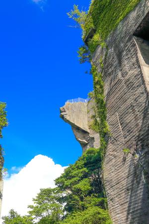 地獄のぞき (6) の崖 写真素材