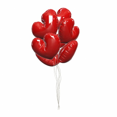 life events: Party balloons red birthday balloon modern holiday decoration baloons anniversary retirement graduation occasion life events greeting card. Joy positive abstract.