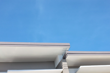 roof  and blue sky photo