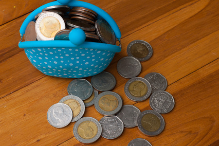 baht: Baht coins Stock Photo