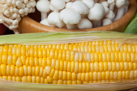 carrots: Corn, carrots, mushrooms