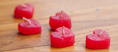 bougie coeur: heart candle