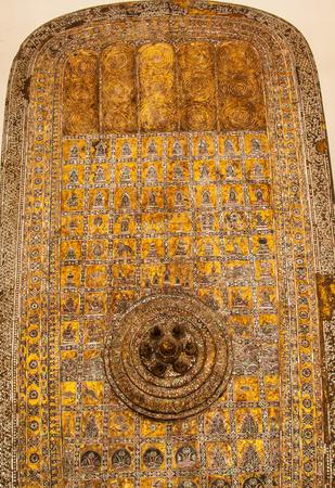 religious backgrounds: buddha footprint