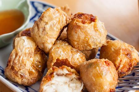 deep fried: deep fried crab meat sausage