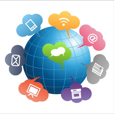 Communication Globe Vector