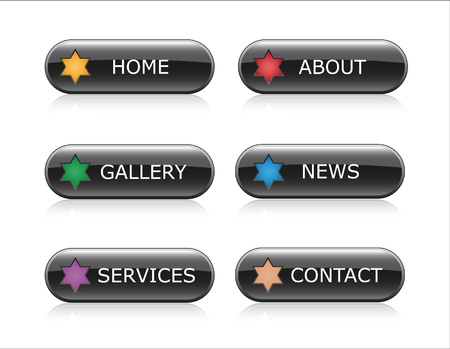 Web Navigation Buttons Illustration