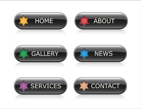 Web Navigation Buttons Illustration