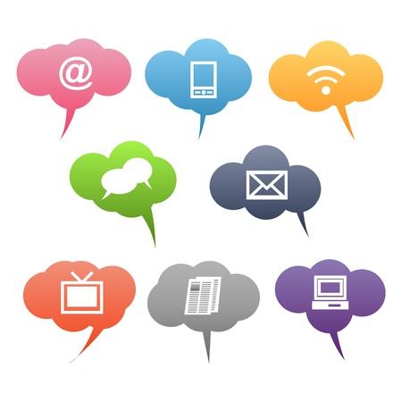 Farbige Symbole Kommunikation