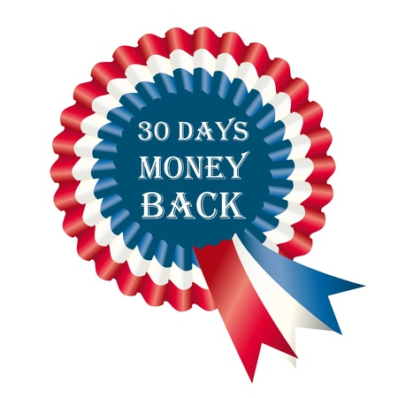 30 Days Money Back Guarantee Label Illustration