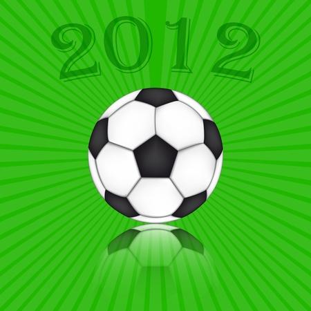 Soccer Ball Euro 2012 Stock Vector - 12799305