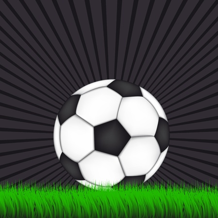 Soccer Background with Ball Stock Vector - 12799320