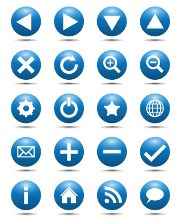 Blau Navigation Web Icons Illustration