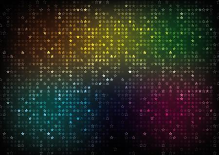 Farbspektrum abstrakten Hintergrundfarbe Sterne Illustration