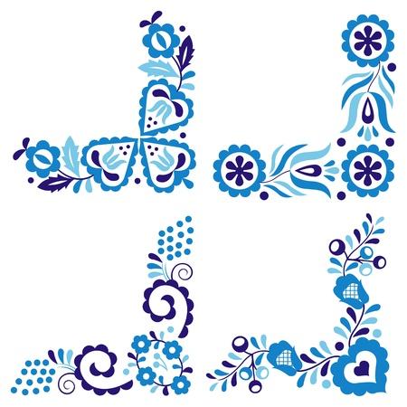 Traditional Folk-Muster auf weißem Hintergrund Illustration