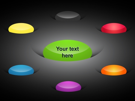 elipsy: Elementy sieci etykiety kolorowe elipsy Ilustracja