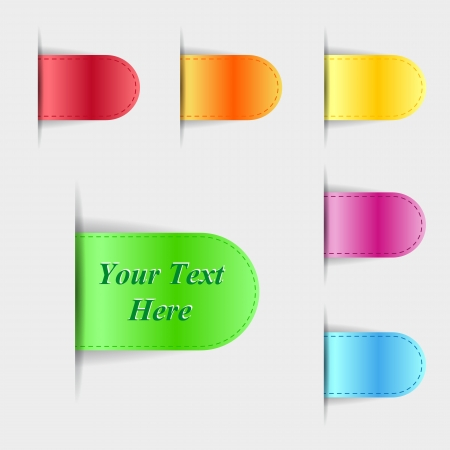 Set of colorful glossy labels illustration Stock Vector - 15726606