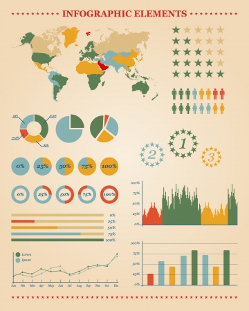 Set of infographic elements for your reports and documents