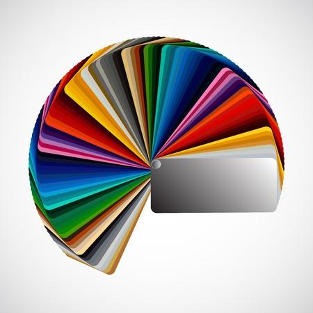 Farbpalette auf weißem Hintergrund, Vektor-Farbe-Proben isoliert Illustration