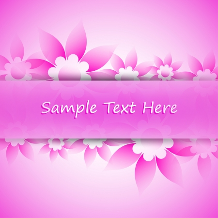 summer holidays: Card with flowers and plot with place for text