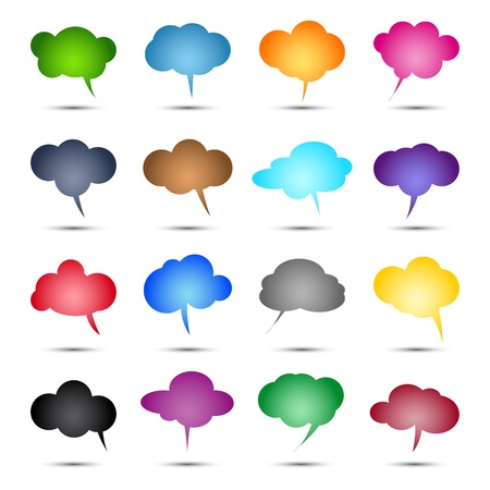 Glossy colored bubbles collection illustration Stock Vector - 20866701