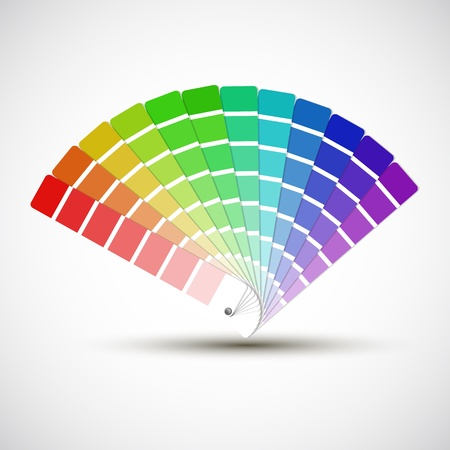 de colores: Paleta de colores aislados sobre fondo blanco, muestras de color
