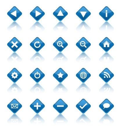 Web navigation icons isolated on white background
