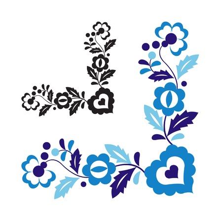 Traditionele folk ornament geïsoleerd op witte achtergrond Stock Illustratie