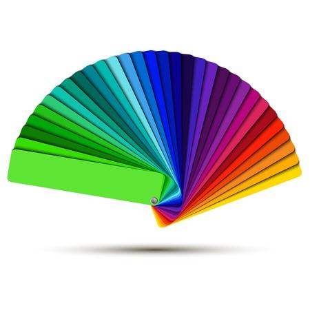 sampler: Paleta de colores aislados sobre fondo blanco, muestras de color vectoriales Vectores