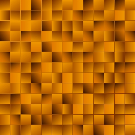 Golden mosaic vector background Illustration