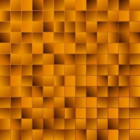 Golden mosaic vector background Illustration