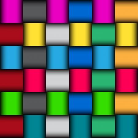 Glossy color mosaic pattern, vector illustration Illustration