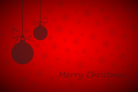 Simple red merry christmas background Vector