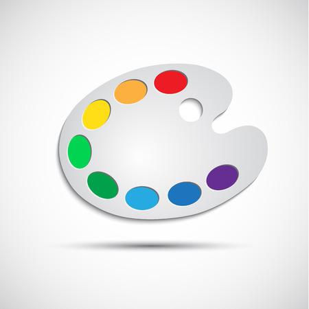 Modern art palette with eight colors, vector illustration Illustration