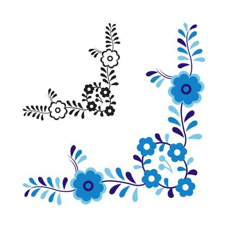 Traditionele folk ornament en patroon geïsoleerd op een witte achtergrond Stock Illustratie