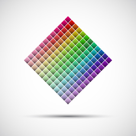 color swatch book: Color palette isolated on white background, vector illustration