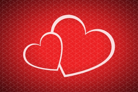 two hearts: Vector valentines day background with two hearts