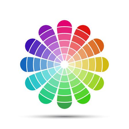 Kleurenpalet geïsoleerd op witte achtergrond, vector illustratie Stock Illustratie