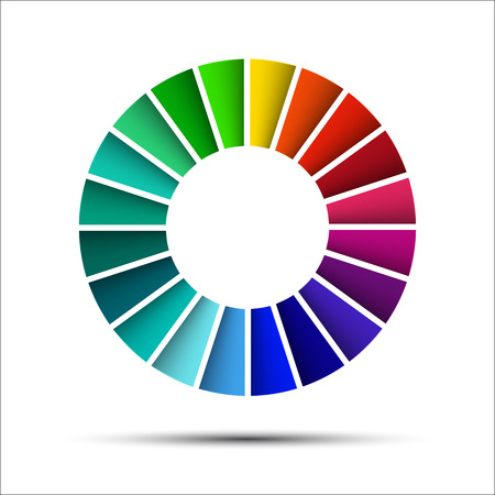 colour wheel: Color palette isolated on white background