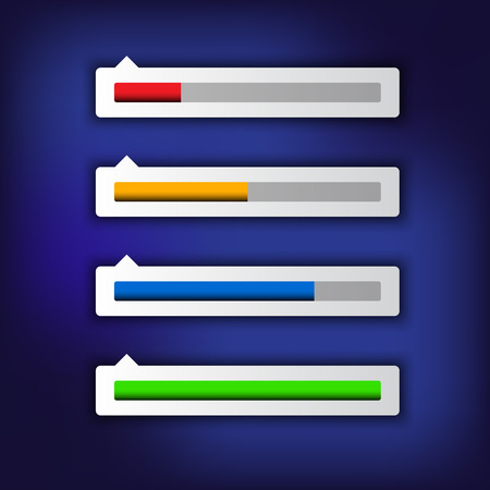 Simple modern loading bar, vector illustration for your webside Vector