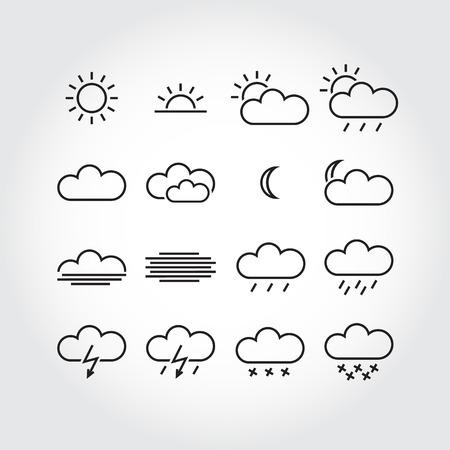 Iconos del tiempo simple, vector iconos minimalistas Foto de archivo - 27900916