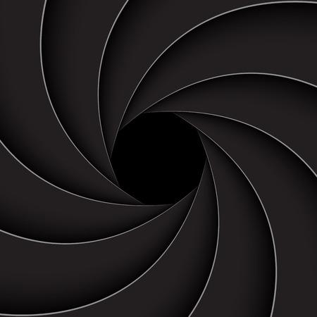 abstract aperture: Black shutter aperture,  vector illustration Illustration