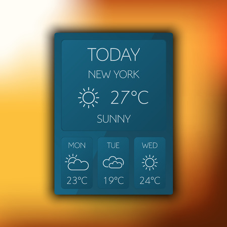 Vector weather widget Vector