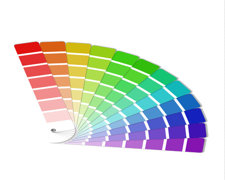 흰색 배경에 고립 된 색상 팔레트