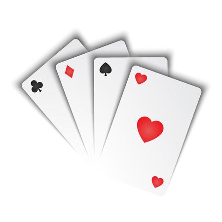 convés: cartas de jogar Ilustração