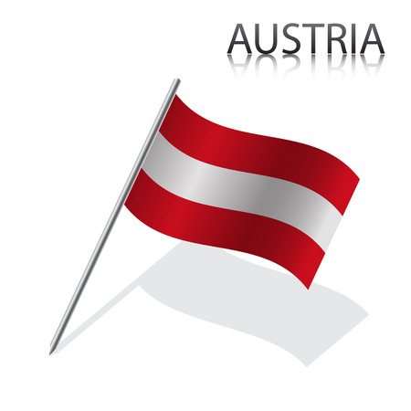 austrian flag: Realistic Austrian flag, vector illustration Illustration