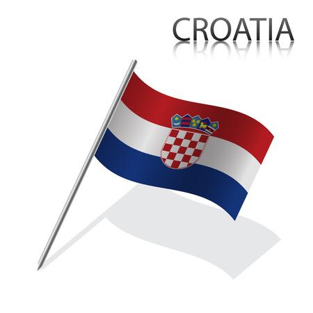 Realistic Croatian flag, vector illustration Vector