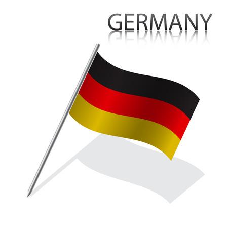 german flag: Realistic German flag, vector illustration Illustration