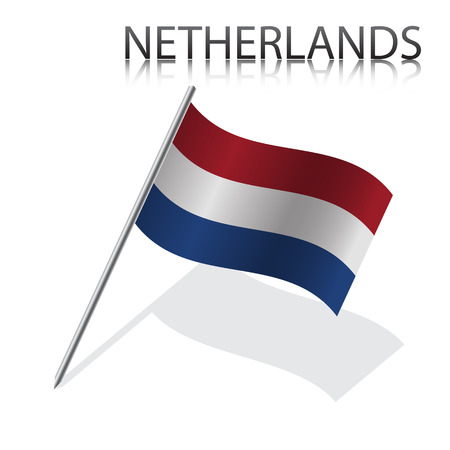 netherlandish: Realistic  Netherlandish flag, vector illustration