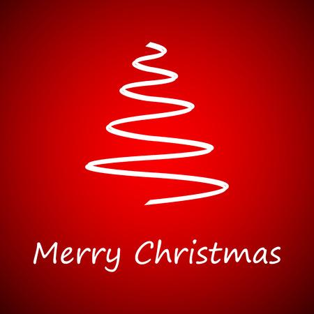 Simple christmas tree, merry christmas card Vector
