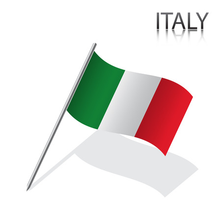 Realistic Italian flag, vector illustration